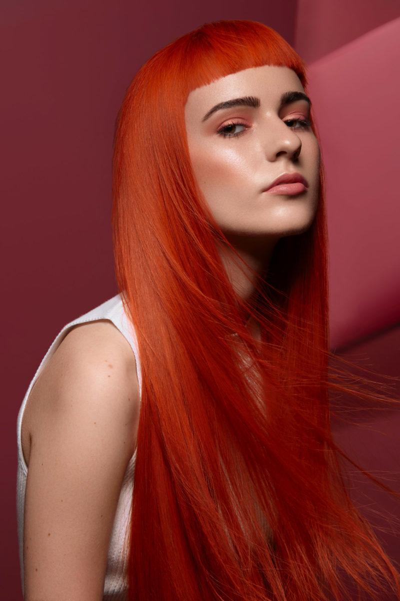 Hair retouching Sweet apricot
