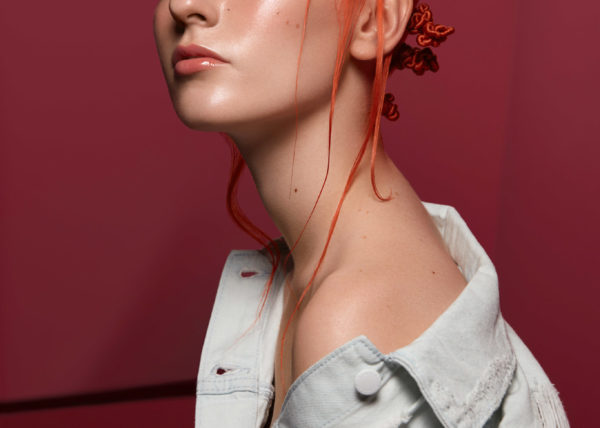 Hair retouching Sweet apricot