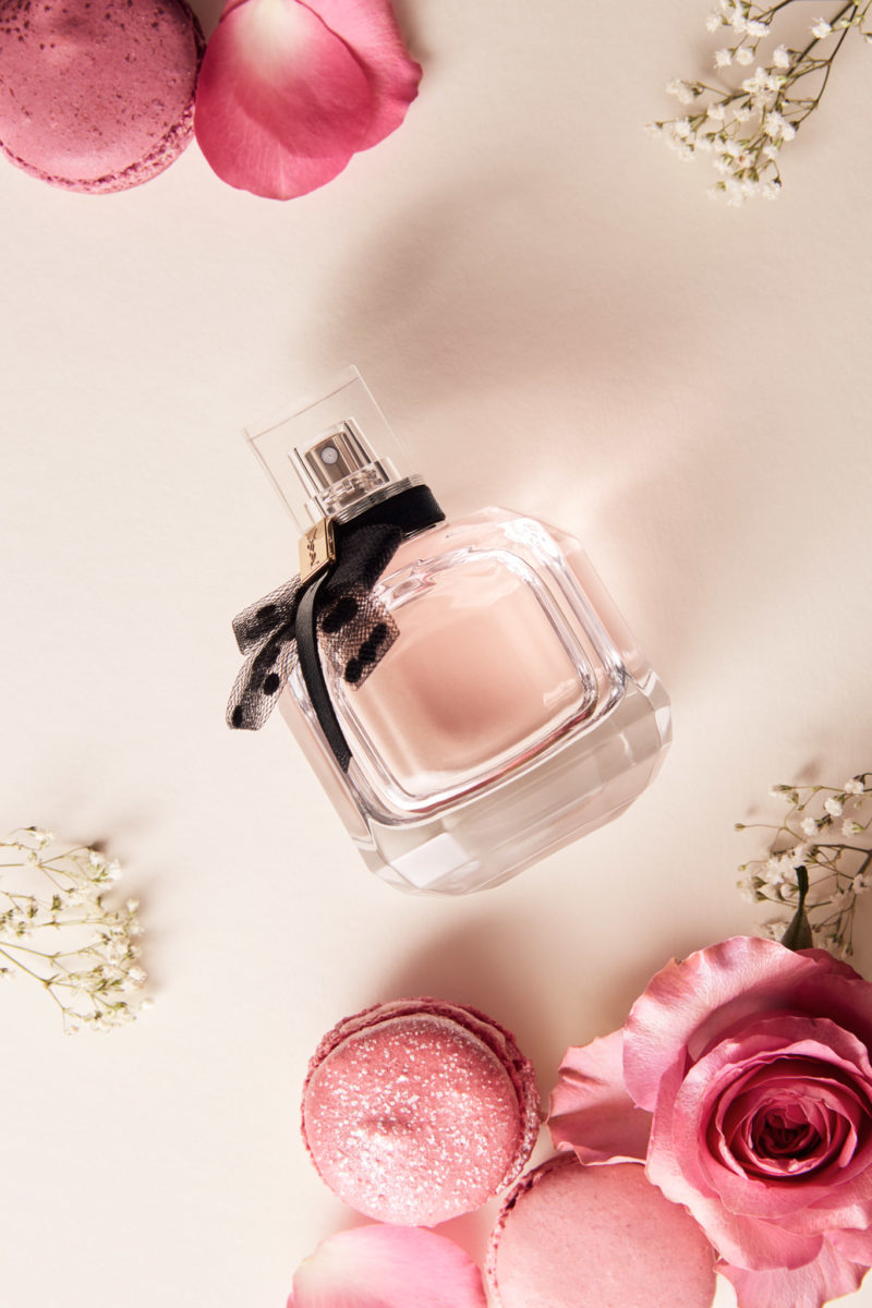YSL Mon Paris with Pastry and Flowers