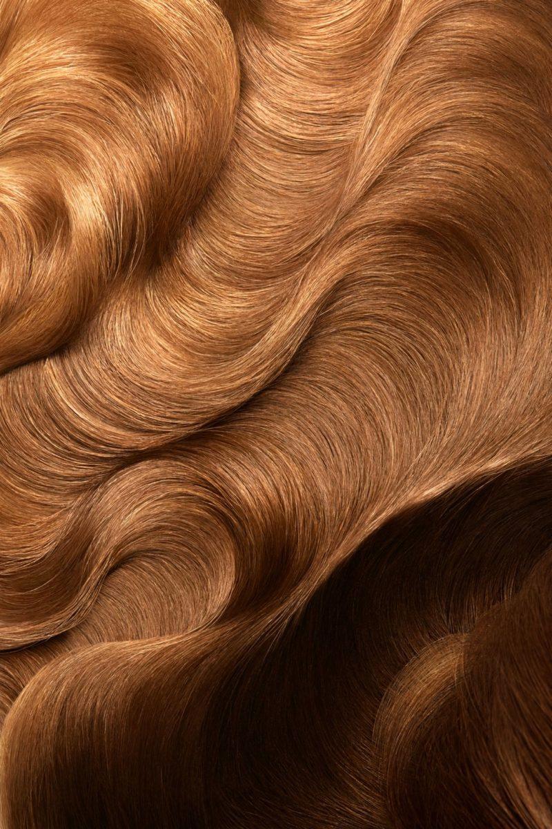 Hair closeup gold, high end hair retouching