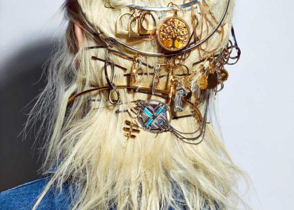 Beauty model retouching beautiful hair design for L'Officiel Singapore