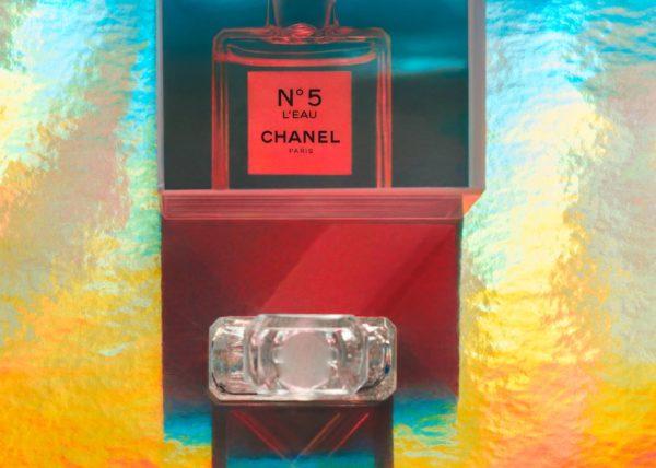 Chanel Color blocks on sunset waves